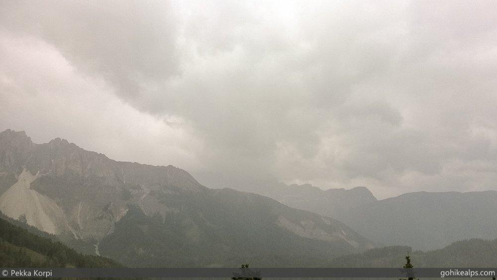 Rainy Day On Dolomites Alta Via 2