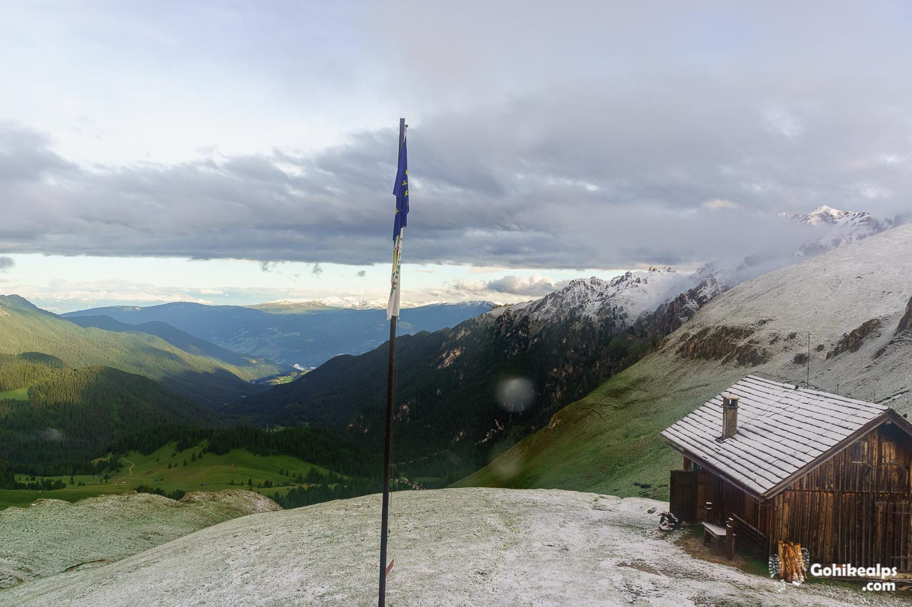 View from Sclhüterhütte in the Morning