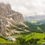 Clouds gathering over Passo Gardena