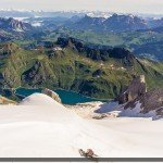 Lago Fedeia and Marmolada Ski Area in the Summer