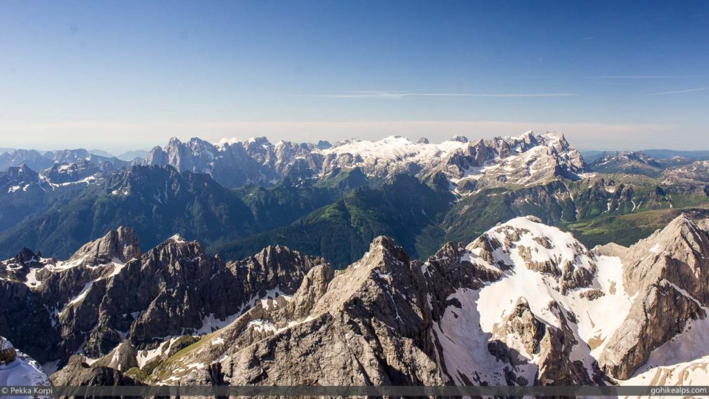 View South from the Marmolada