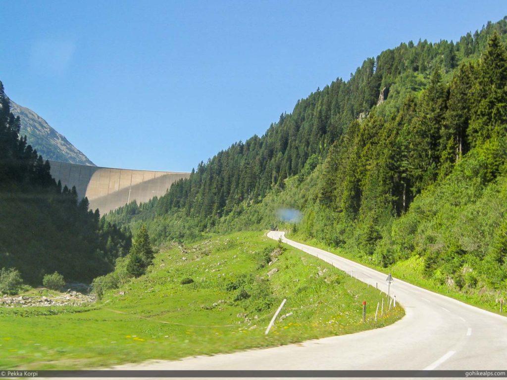 Approaching Schlegeisspeicher on the Schlegeis High Alpine Road