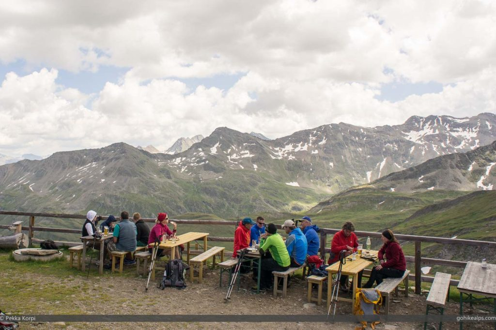 Lunch at Salmhütte