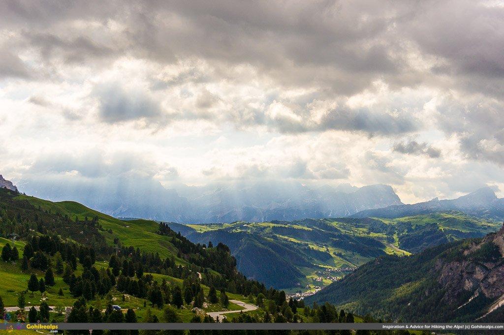 Passo Gardena Morning on Dolomites Alta Via 2